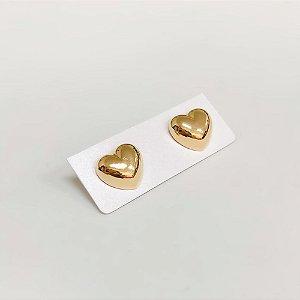 Brinco Dourado de Coração Cleo