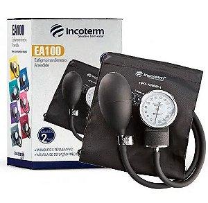 Aparelho de Pressão Arterial Adulto EA-100 Preto - Incoterm