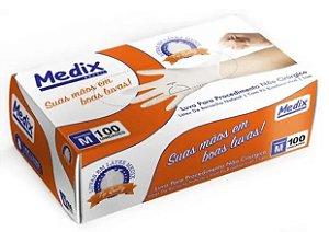 Luva de Procedimento Látex não Estéril Tam. M - Medix