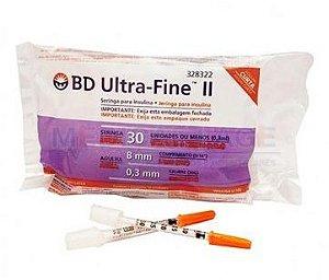Seringa de Insulina Ultra-Fine 0,3ml com Agulha (8mm x 0,30mm) - BD
