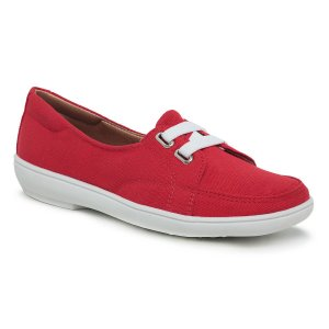 Sapatilha Feminina Confortável Em Lona - Lótus Vermelha