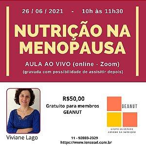 AULA AO VIVO - NUTRIÇÃO NA MENOPAUSA