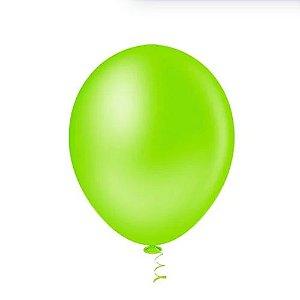 Balao Bexiga Redondo Liso Verde Limao N9 - 50uni