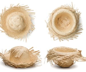 Mini Chapéu de Palha Enfeite Festa Junina - 10 unid - KLF