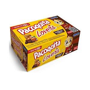 Paçoquita Rolha Lovers Chocolate e Avelã com 8 Unidades