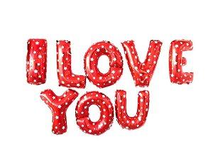 Balão Dia dos Namorados - Metalizado - I Love You