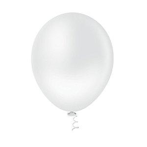 Balão Bexiga Redondo Liso Clear N5 - 50uni