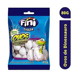 Chiclete Ovos de Dinossauro com Recheio Cítrico 80g - Fini