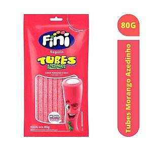 Bala Tubes Morango Azedinho 80g - Fini