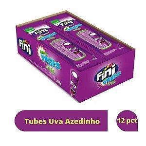 Bala Tubes Uva Azedinho com 12 unidades de 17g - Fini