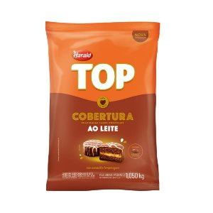 Cobertura Chocolate Ao Leite Top - Gotas 1,050kg Harald