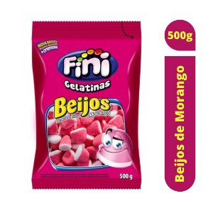 Bala Beijos de Morango 500g - Fini