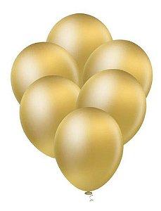Balão Bexiga Ouro Platino Metalizado 10 - 25 Uni