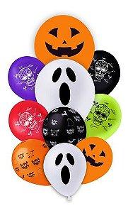 Balão - Bexiga Dia Das Bruxas Buquê Halloween