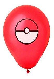 Balão Bexiga Pokemon Pokebola N11 - 25 Unidades