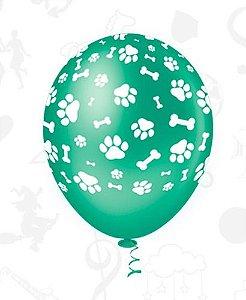 Balão Bexiga Patinhas Cachorro Colorido 25 Unidades