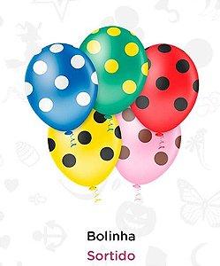 Balão Bexiga Bolinha Sortida - 25 Unid - Pic Pic