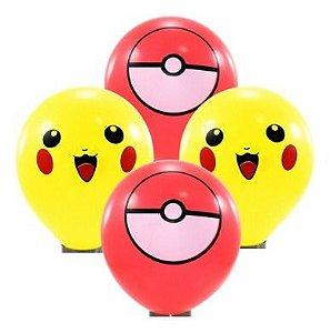 Balão Bexiga Pokemon Sortido - 25 Uni