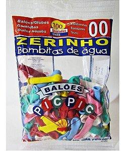 Balão Bexiga Zerinho Sortido Bombitas De Água 100uni