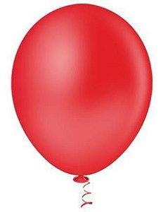 Balão Bexiga Redondo Liso Vermelho Nº 9 - 50uni