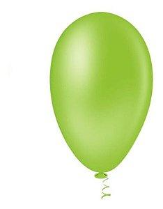 Balão Bexiga Pera Verde Limão Nº7  50uni