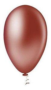Balão Bexiga Pera Liso Marrom Nº7 50 Uni