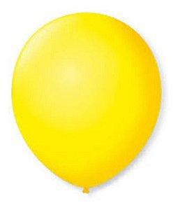 Balão Bexiga Redondo Liso Amarelo Nº 9 - 50uni