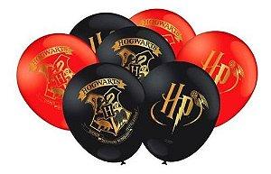 Balão Bexiga Harry Potter Vermelho E Preto - 25uni