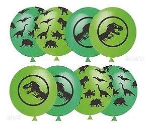 Balão Bexiga Dinossauro - 25 Uni