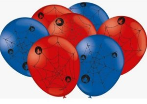 Balão Bexiga Homem Aranha - 25uni