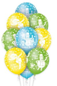 Balão Bexiga Mundo Bita n12 - 10 unid