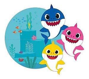 Painel Decorativo Baby Shark 1,27x1,13 - 4 Lâminas