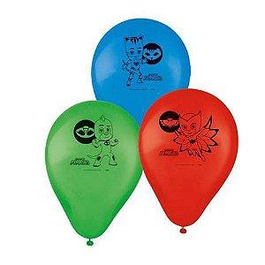 Balão Bexiga Pj Masks Sortidas - 25 Unidades