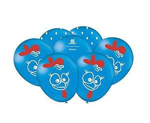 Balão Bexiga Galinha Pintadinha 9  - 25uni