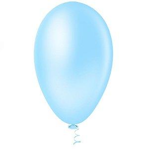Balão Bexiga Pera Azul Claro Nº 7 - 50 Uni