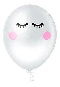 Balão Bexiga Olhinhos Cílios 10 - 25 Unidades