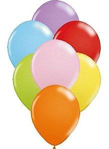 Balão Bexiga Liso Sortido Nº 9 - 50 Unidades