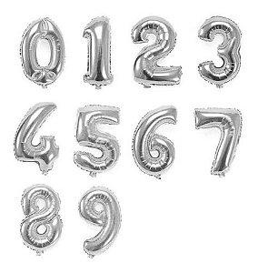 Balão Metalizado Número 75 Cm Ouro. Prata Ou Rosê 2uni