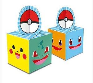 Caixa Para Lembrancinhas Pokemon - 8 Uni