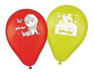 Balões Bexigas Masha E O Urso - 25 Unidades - Regina