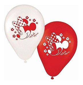 Balões Bexigas Minnie - 25 Unidades - Regina