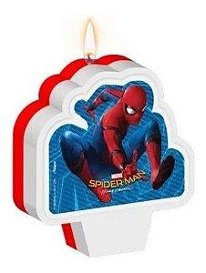 Vela Aniversário Homem Aranha - 1 Unidade