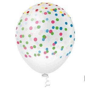Balão Bexiga Confete Sortido - 25 unid