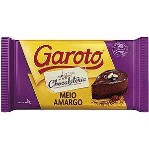 Chocolate Cobertura Garoto Meio Amargo 1kg