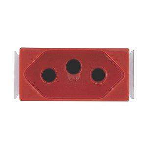 Módulo De Tomada Aria 2P+T 20A 250V Vermelho Tramontina