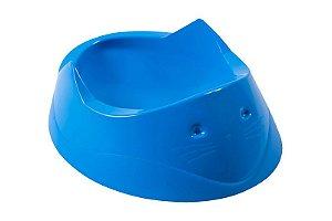 Comedouro Para Gato Focinho 200ml Azul Astra