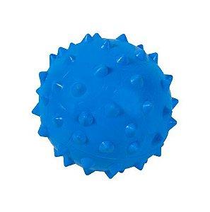 Bola De Borracha Com Cravo 43mm Azul Astra