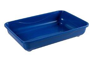 Caixa De Areia Para Gato Azul 40x26x8cm Astra