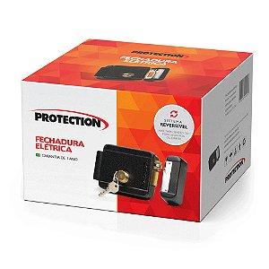 Fechadura Elétrica Reversivel 4x1 Preta PT-750 Protection