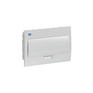 Quadro De PVC Embutir Sem Barramento 12 Disjuntor Branco Weg